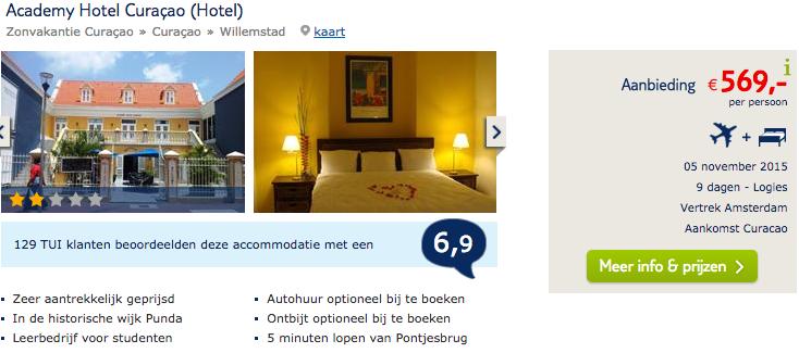 569 9 dagen academy hotel willemstad curacao met tui